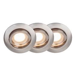 Spot encastrable LED GU10 Brilliant G94650/13 15 W fer set de 3