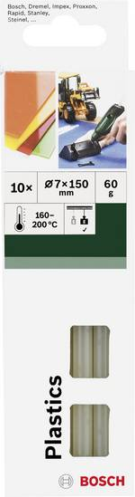 Batons de colle Bosch Accessories 2609256D32 7 mm 150 mm transparent 10 pc(s)