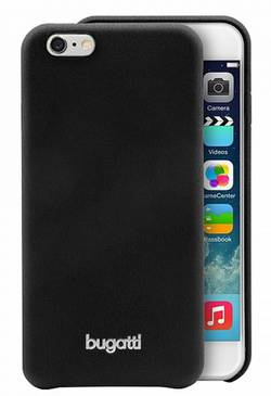 Coque arrière Bugatti SoftCover Nice Adapté pour: Apple iPhone 6 Plus, noir