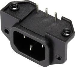 Connecteur secteur 1365768 C14 embase mâle horizontale Nbr total de pôles: 2 + PE 15 A noir 1 pc(s)