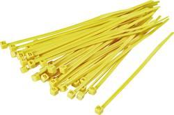 Serre-câbles 150 mm x 3.60 mm jaune TRU COMPONENTS TC-CV150203 1593689 crantage intérieur 100 pc(s)