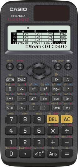 Calculatrice scolaire Casio fx-87DE X CLASSWIZ noir solaire, à pile(s)