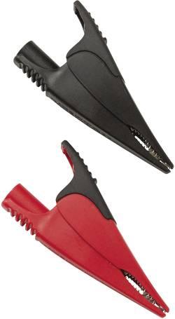 Jeu de pinces crocodiles de sécurité Fluke AC285 femelle 4 mm CAT IV 600 V, CAT III 1000 V rouge, noir