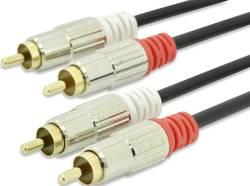 Cable ednet RCA, stéréo ednet 84592 [2x Cinch / RCA mâle - 2x Cinch / RCA mâle] 5 m noir