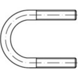 Collier étrier à section ronde en acier TOOLCRAFT 1067032 N/A Acier inoxydable A4 (Ø) 332 mm 1 pc(s)