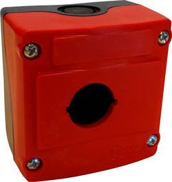 Boîtier vide BACO LBX0100RN 1 emplacement (L x l x h) 74 x 74 x 48 mm rouge, noir 1 pc(s)