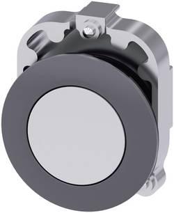 Bouton-poussoir à rappel collerette métal, actionneur plat blanc décrochage par pression Siemens SIRIUS ACT 3SU1060-0