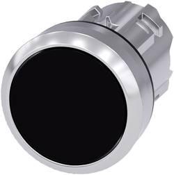 Bouton-poussoir à rappel collerette métal, finition brillante, actionneur plat noir Siemens SIRIUS ACT 3SU1050-0AB10-