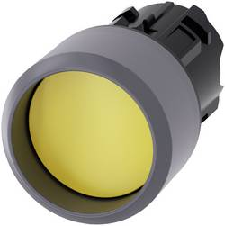 Bouton-poussoir à rappel jointure saillante, collerette métal jaune Siemens SIRIUS ACT 3SU1030-0CB30-0AA0 1 pc(s)