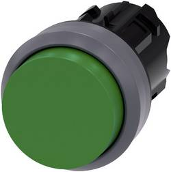 Bouton-poussoir à rappel jointure saillante, collerette métal vert Siemens SIRIUS ACT 3SU1030-0BB40-0AA0 1 pc(s)