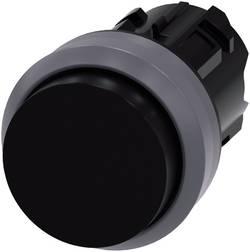 Bouton-poussoir à rappel jointure saillante, collerette métal noir Siemens SIRIUS ACT 3SU1030-0BB10-0AA0 1 pc(s)