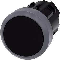 Bouton-poussoir à accrochage actionneur plat, collerette métal noir décrochage par pression Siemens SIRIUS ACT 3SU103