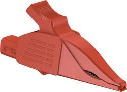 Pince crocodile de sécurité Stäubli XDK-1033/I-2 enfichable 4 mm CAT IV rouge