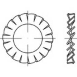 Rondelle à dents chevauchantes Ø intérieur: 28 mm DIN 6798 Acier à ressort 100 pc(s) TOOLCRAFT 138421
