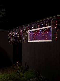 Guirlande lumineuse stalactites, effet chute de neige Konstsmide 3673-503 pour l'extérieur 24 V LED multicolore