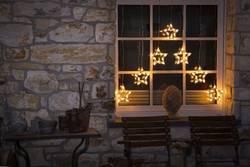 Guirlande lumineuse stalactites, étoiles Konstsmide 4043-103 pour l'extérieur 24 V LED blanc chaud (l x h) 72 cm x 118 c