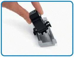 Adaptateur pour rail DIN pour transformateur de courant enfichable série 855-x0x WAGO 08559900