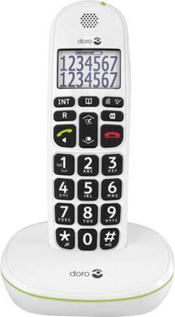 Téléphone sans fil pour séniors doro Phoneeasy® 110 fonction mains libres écran éclairé blanc