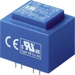 Transformateur pour circuits imprimés Block AVB 1,5/2/15 2 x 115 V 2 x 15 V/AC 1.50 VA 50 mA 1 pc(s)