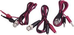 Set de cordons de mesure BNC VOLTCRAFT 0.80 m noir, rouge