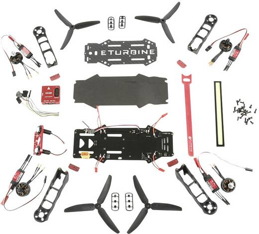 drone de course robitronic fpv 250 combo kit etb250 kit kit monter. Black Bedroom Furniture Sets. Home Design Ideas