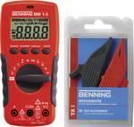 Multimètre numérique Benning MM 1-3 + Set de pinces croco de sécurité TA 1