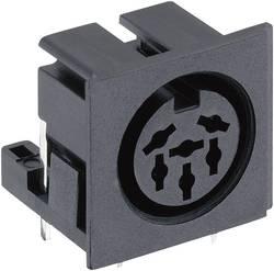 Connecteur circulaire DIN embase femelle horizontale Lumberg 010599 06 Nombre total de pôles: 6 noir 1 pc(s)