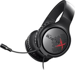 Micro-casque de gaming circum-aural filaire, stéréo Sound BlasterX Sound BlasterX H3 noir/rouge