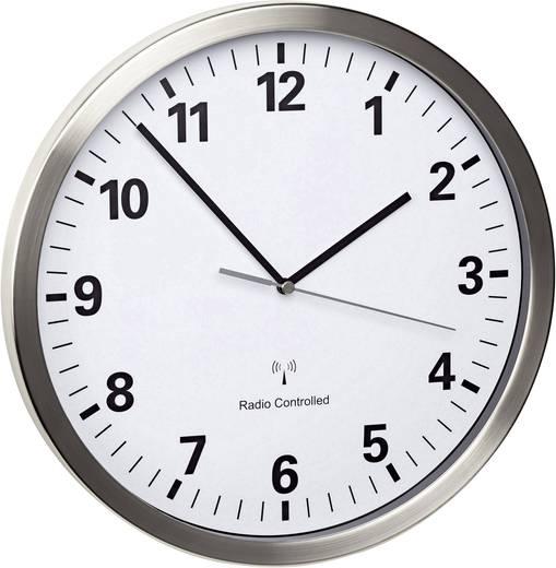 Horloge murale radiopilot e tfa acier for Mecanisme horloge murale