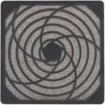 Grille de ventilation avec filtre (l x h x p) 125 x 125 x 10.1 mm plastique