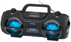 Ghettoblaster FM AEG SR 4359 BT noir lumière d'ambiance