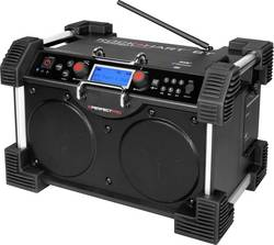 Radio de chantier DAB+ PerfectPro Rockhart BT AUX, Bluetooth fonction de charge de la batterie, protégé contre les proje