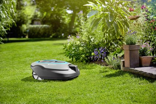 tondeuse robot gardena r130li con u pour surface max 1300 m. Black Bedroom Furniture Sets. Home Design Ideas