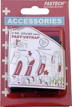 Bande auto-agrippante Fastech 688-360K avec boucle partie velours et partie crochets (L x l) 360 mm x 25 mm noir 2 pièce