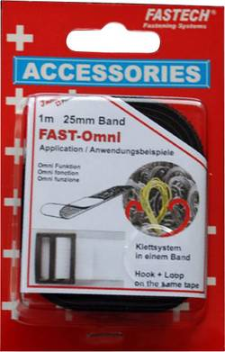 Bande auto-agrippante pour grouper Fastech 671-330-Mod partie velours et partie crochets (L x l) 1 m x 25 mm noir 1 m