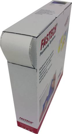Bande auto-agrippante à coller Fastech B50SK-F866W25 micro-crochets (L x l) 25 m x 50 mm blanc 25 m