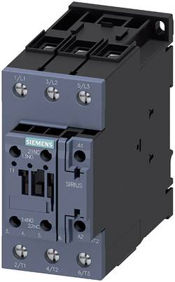 Contacteur Siemens 3RT2035-1NB30 3 NO (T) 18.5 kW 24 V/DC, 24 V/AC 40 A avec contact auxiliaire 1 pièce