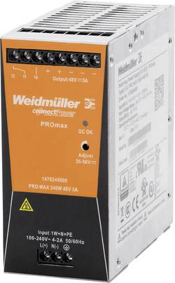 Weidmüller PRO MAX 240W 48V 5A Alimentation rail DIN 48 V 5 A