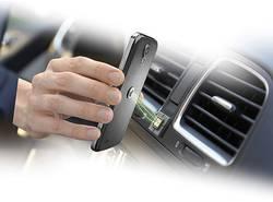 Support de téléphone portable pour voiture Cellularline Tetrax fixation magnétique, pivotant à 360° pastille adhésive