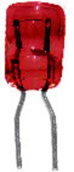 BELI-BECO 68512 Ampoule incandescente miniature 5 V 0.15 W Bi-Pin 2.8 mm rouge 1 pc(s)
