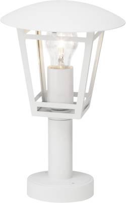 Lampadaire extérieur Brilliant Riley 40 W blanc 42.5 cm