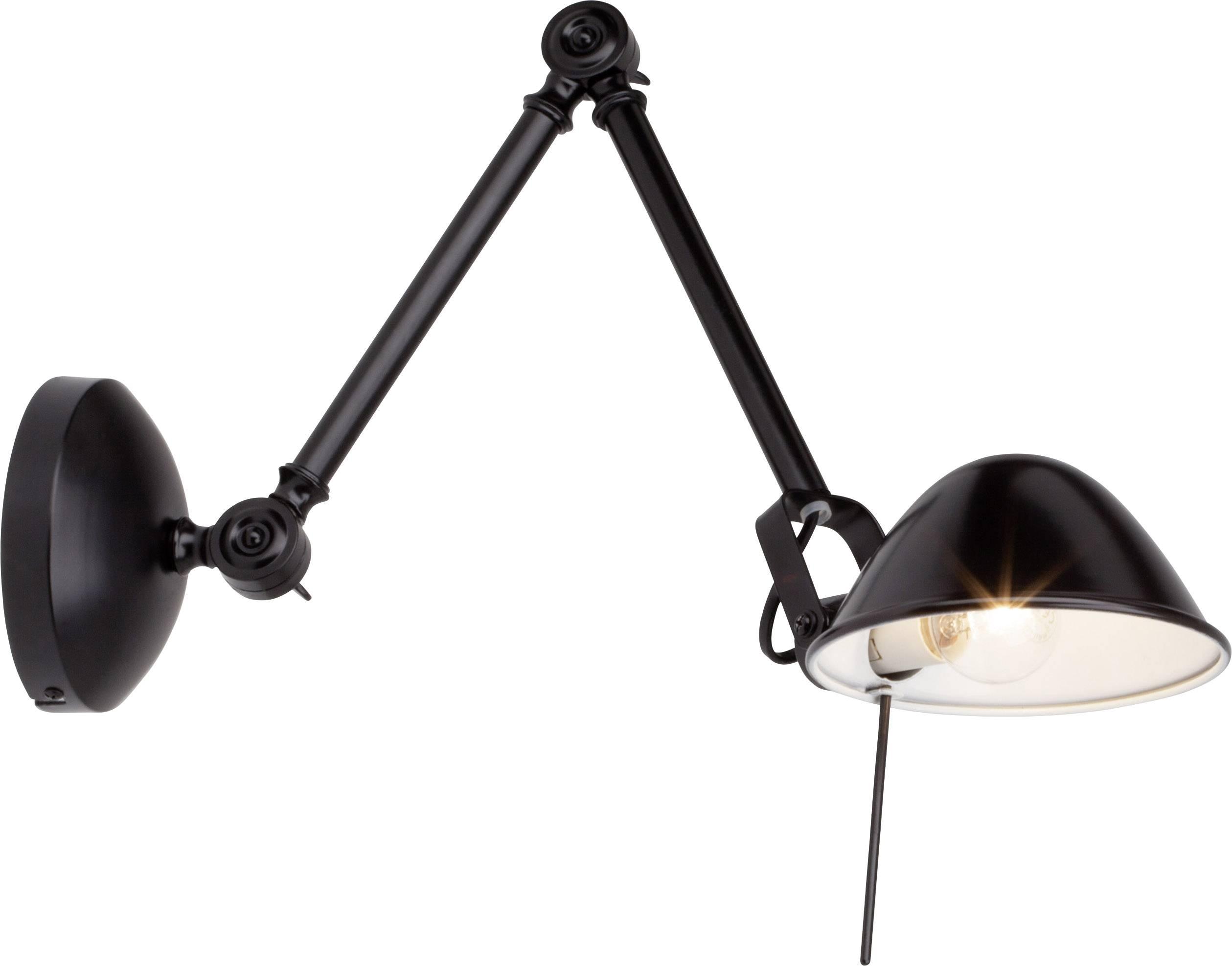 Monter Une Lampe De Chevet lampe de chevet brilliant torana 40 w intensité variable, pivotable,  inclinable, montage mural possible noir