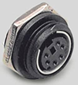 Mini DIN embase femelle, verticale BKL Electronic 0204038 Nombre total de pôles: 8 noir 1 pc(s)