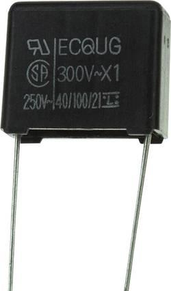 Condensateur polypropylène sortie radiale 0.1 µF 300 V/AC 20 % Panasonic ECQ-U3A104MG (L x l) 15 mm x 8 mm 12.5 mm 1 pc