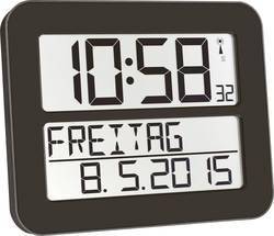 Horloge murale radiopiloté(e) TFA 60.4512.01 noir 258 mm x 212 mm x 30 mm