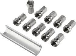 Jeu de 10 fiches F mâles + 1 clé de montage Conrad Components 93038c230 pour Ø câble: 8 mm 1 set