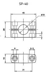 Support DataLogic SP-40 95ACC1370 (L x l x h) 45 x 16 x 28 mm 1 pc(s)