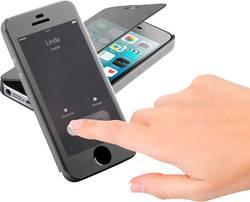 Etui à rabat Cellularline Book Touch Adapté pour: Apple iPhone 5, Apple iPhone 5S, Apple iPhone SE, noir, transparent