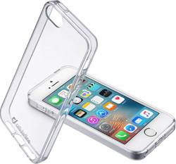 Coque arrière Cellularline Clear Duo Adapté pour: Apple iPhone 5, Apple iPhone 5S, Apple iPhone SE, transparent