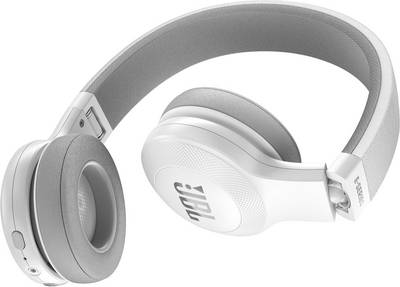 Casque Bluetooth supra-aural JBL Harman E45BT pliable, micro-casque blanc